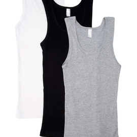 American Apparel - 2x1 Rib Boy Beater Tank