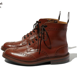 SOPHNET. - Tricker's WING TIP BOOTS