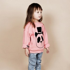 mini rodini - PANDA REVERSABLE SWEATSHIRT