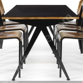 Jean Prouve - Dining Compass Table, Model 512