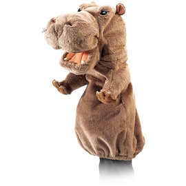 Folkmanis Hippo Stage Puppet  - Folkmanis Inc. -  Puppets   - FAO Schwarz®