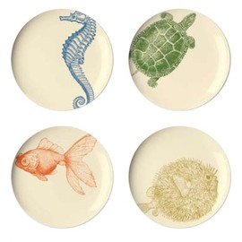Thomas Paul - Thomas Paul Sea Life Dessert Plate (Set of 4)