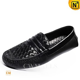 cwmalls - CWMALLS Mens Leather Penny Loafers CW706161