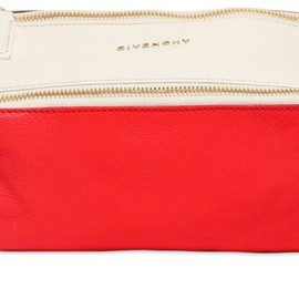 GIVENCHY - Mini Pandora Color Blocked Leather Bag in Red (multi)