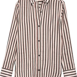 Isabel Marant - Striped ramie and silk-blend shirt