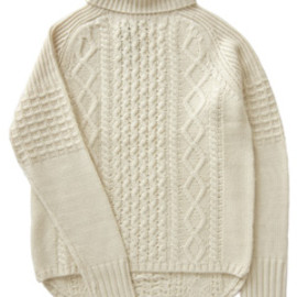 STRIPE MOHAIR V NECK SWEATER