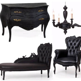 Maarten Baas -  Smoke burned vintage furniture