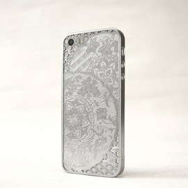 iPhone case - 薄金 for iPhone5/5s -鏡に鳳凰と桐文様