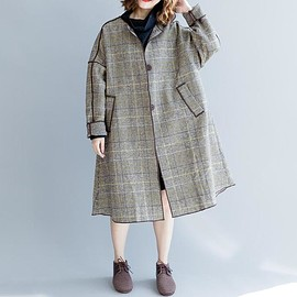 Wool Winter Coat - Wool Loose Fitting maxi overcoat, Women Clothing, Wool Winter Coat, Wool Jacket for Women