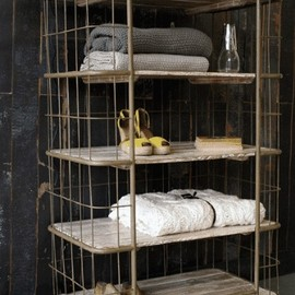 Factory Bindery Shelving Unit. Great for a loft.