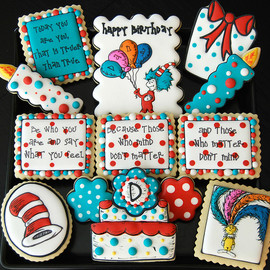 The Art of the Cookie - Dr. Suess Birthday Cookies