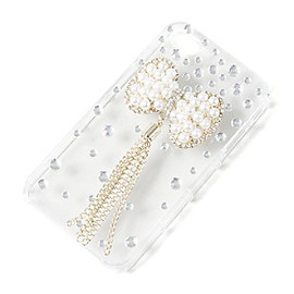 Claire's - PEARL BOW IPHONE COVER