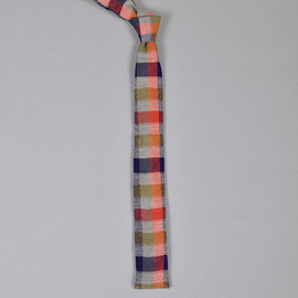The Hill-Side - 4-Color Gingham Double-Faced Flannel Tie