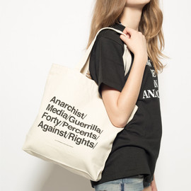 FORTY PERCENTS AGAINST RIGHTS - ANARCHIST APPEAL / TOTE BAG