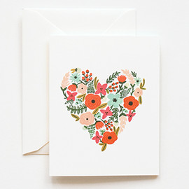 Rifle Paper - Floral Heart Card