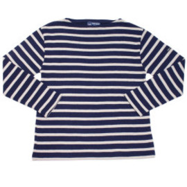 SAINT JAMES - BORDER SWEATER BASIC NAVY/ECUME