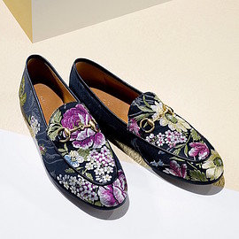 Gucci - Gucci Jordaan Floral Jacquard Loafers