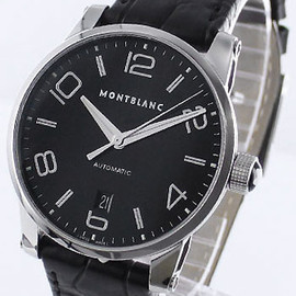MONTBLANC - MONTBLANC timewalker automatic alligator leather black mens 105812