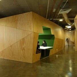 Plus Architecture - Plywood Office Partition
