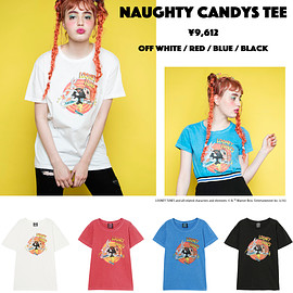 Candy Stripper meets LOONEY TUNES - NAUGHTY CANDYS TEE / BLACK