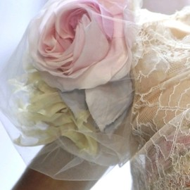 pink rose and lace