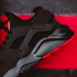 NIKE - Air Huarache Run Ultra - Black/Metallic Silver?