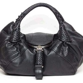 FENDI - SPY Black Silk Bag