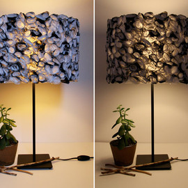 White Folded Paper Hanging Lamp