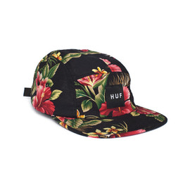 HUF - HAWAIIAN VOLLEY (Black Blossom)