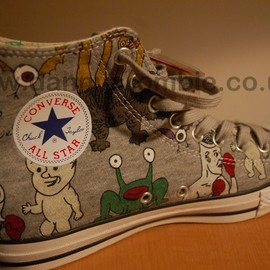 CONVERSE - Daniel Johnston converse shoe inner foot