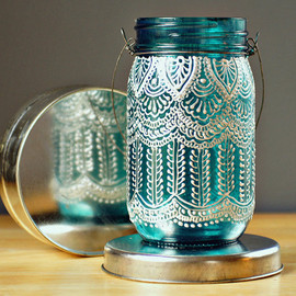 LITdecor - Hand Painted Mason Jar Lantern