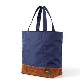 "HEAD PORTER - ""JACKSON"" SHOPPING BAG (L) NAVY"