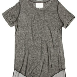 3.1 Phillip Lim - s/s tee w/ chiffon back and seam detail