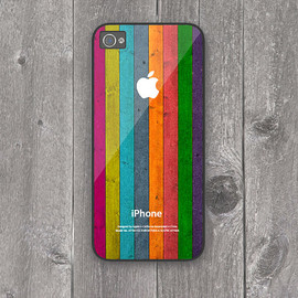 Etsy - iPhone 5 Hard Case Colorful wooden texture Phone Case
