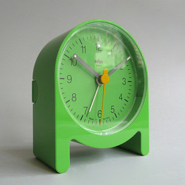 "BRAUN - ""AB 2"" Table/alarm Clock, Green, Designed by Dieter Rams & Jurgen Greubel, 1984"