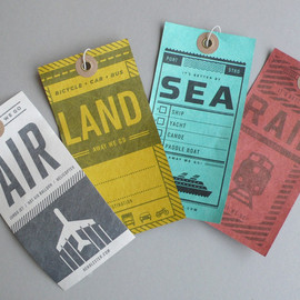 Two Arms Inc - Luggage tags: air, rail, land, sea