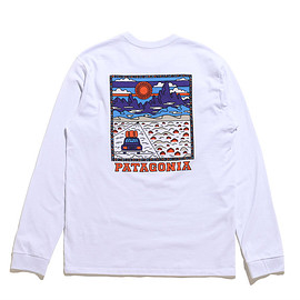 Patagonia - Men's L/S Summit Road Responsibili Tee-WHI