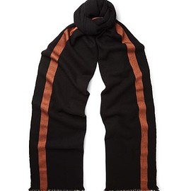 Berluti - Striped Cashmere and Silk-Blend Scarf