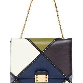 VALENTINO - FW2014 ARLECCHINO CLOSE UP LEATHER SHOULDER BAG