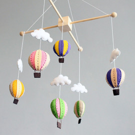 ButtonFaceCo - diy baby mobile - how to make your own hot air balloon crib mobile pattern