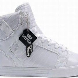 Ladies Supra High Tops with All White - Supra Skytop