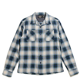 RRL - Plaid Cotton Blend Workshirt-Blue Green