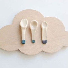 Caroline Gomez - spoons and wood cloud board
