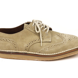 McKINLAYS - Comfort Sole Shoe Brogue,Sand Suede