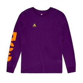 NIKE - Nike Nsw Tee Ls Cltr ACG 2 (Night Purple/Bright Mandarin)