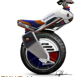 Is this real or bite-sized?  A Police mini scooter?