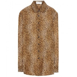 SAINT LAURENT - Printed silk shirt