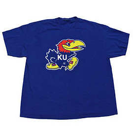 VINTAGE - Vintage University of Kansas Jayhawks College Shirt Mens Sportswear Size XL