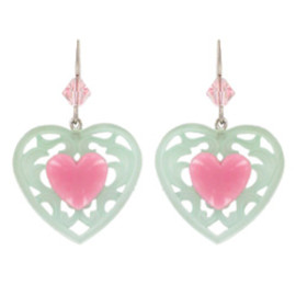 TARINA TARANTINO - CANDY CUPID ORNATE HEART EARRINGS