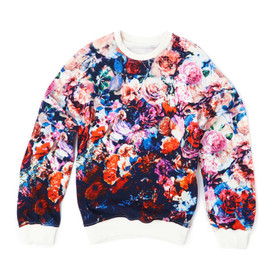 MSGM - Flower Stamped Sweatshirt